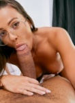 Abigal mac loves to take a big mouthful of hard cock before it spits allover her face