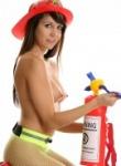 Andi Land firefighter