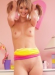 Aspen work out her tight pette body and she slips off her clothes for getting to hot and showing off her naked body