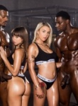 Blacked Riley Reid And Gabby Carter get pounded by 2 big black cocks as riley takes double cock