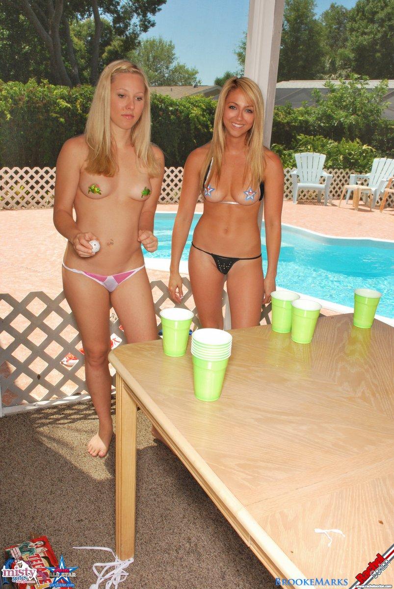 bikini beer college girls