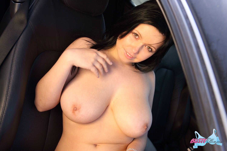 girl strips in car