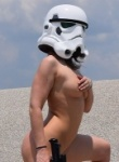 Callista as a cosplay strom trooper thats loves to get naked