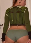 Callista as star wars bobbafett tease and she then strips naked