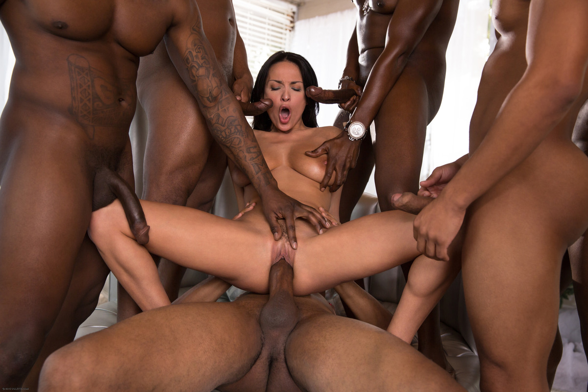 Horny wife bbc gangbang and hubby cleans up - 100 part 8