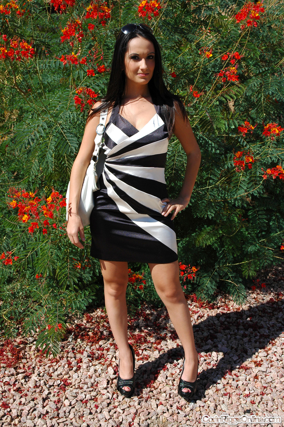 Corin Riggs black and white dress #14