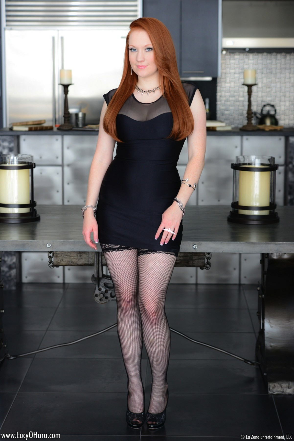 Lucy Ohara Black Stockings @ GirlzNation.com