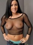 Sweet Krissy fishnet and jeans