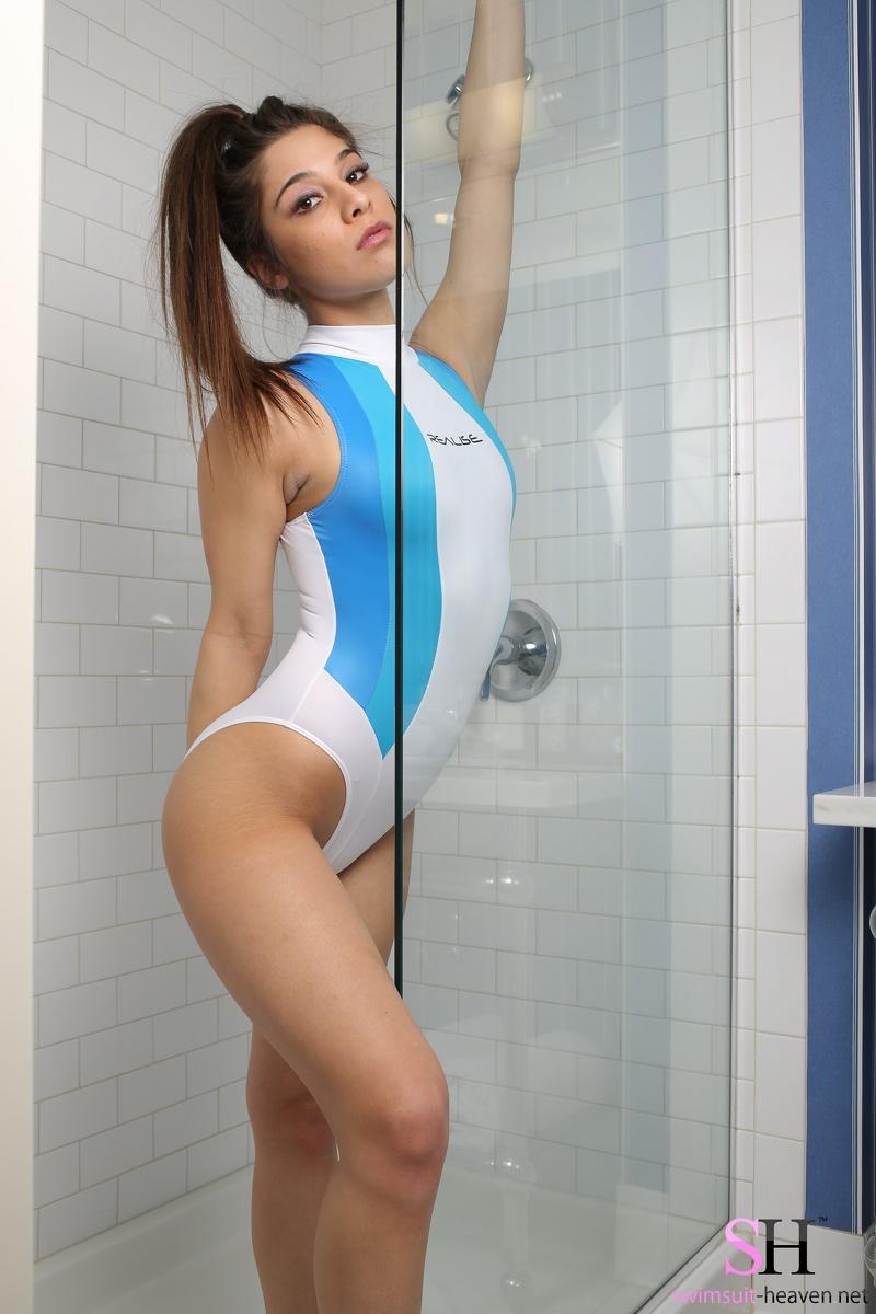 Spandex swimsuit sexy