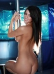 Talia Shepard on stripper pole