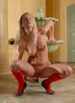 Teen Models blonde in red