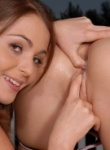 Teen Models two lesbians rubbing whip cream all over and fingering.