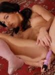 Teen Models hot petite teen toys her pussy and fingers her ass.