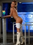TeenModels super hottie Viki naked in boots shows off her very find ass.