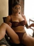 Wynona Gibbs Boobs are all natural as she teases them in her panties and bra as they are busting to full revealed