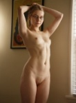 Zishy Freda Motton teases her naked nude body on the bed